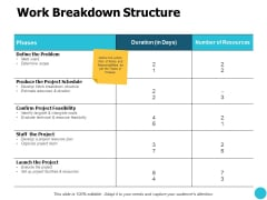 Work Breakdown Structure Ppt PowerPoint Presentation Outline Graphic Tips