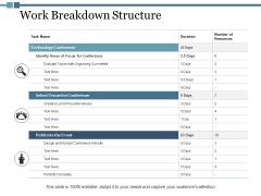 Work Breakdown Structure Ppt PowerPoint Presentation Pictures Portfolio