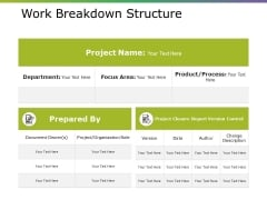 Work Breakdown Structure Ppt PowerPoint Presentation Portfolio Display