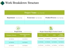 Work Breakdown Structure Ppt PowerPoint Presentation Show Example File