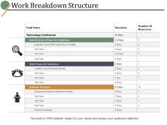 Work Breakdown Structure Ppt PowerPoint Presentation Show Slide