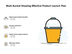 Work Bucket Showing Effective Product Launch Plan Ppt PowerPoint Presentation File Designs PDF