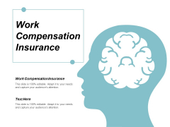 Work Compensation Insurance Ppt Powerpoint Presentation File Ideas Cpb