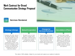 Work Contract For Brand Communication Strategy Proposal Ppt Professional Maker PDF
