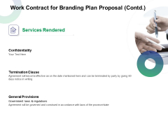 Work Contract For Branding Plan Proposal Contd Ppt Inspiration Designs Download PDF