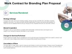 Work Contract For Branding Plan Proposal Ppt Show Themes PDF