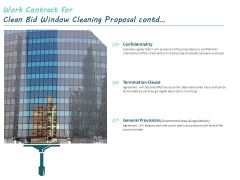 Work Contract For Clean Bid Window Cleaning Proposal Contd Ppt Infographics Vector PDF