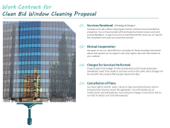 Work Contract For Clean Bid Window Cleaning Proposal Ppt Outline Influencers PDF