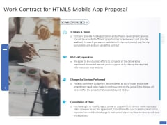 Work Contract For HTML5 Mobile App Proposal Ppt PowerPoint Presentation Pictures Layouts PDF