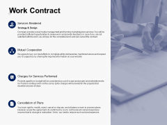 Work Contract Services Performed Ppt PowerPoint Presentation Outline Sample