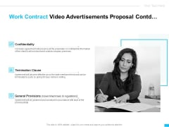 Work Contract Video Advertisements Proposal Ppt Infographic Template Styles PDF