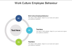 Work Culture Employee Behaviour Ppt PowerPoint Presentation Layouts Graphics Template Cpb