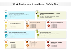 Work Environment Health And Safety Tips Ppt PowerPoint Presentation File Images PDF