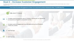 Work Execution Liability Goal 2 Increase Customer Engagement Ppt Summary Outline PDF