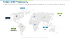 Work Execution Liability Headcount By Geography Ppt Ideas Infographics PDF
