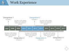 Work Experience Template 1 Ppt PowerPoint Presentation Microsoft
