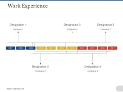Work Experience Template 1 Ppt PowerPoint Presentation Shapes