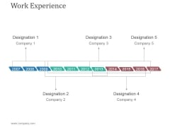Work Experience Template 2 Ppt PowerPoint Presentation Design Templates