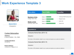 Work Experience Template Business Ppt PowerPoint Presentation Portfolio Design Templates