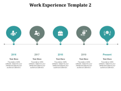 Work Experience Template Timeline Ppt Powerpoint Presentation Summary Outfit Cpb