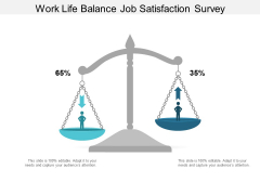 Work Life Balance Job Satisfaction Survey Ppt PowerPoint Presentation Summary Slide Portrait