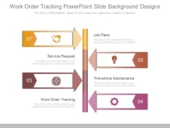Work Order Tracking Powerpoint Slide Background Designs