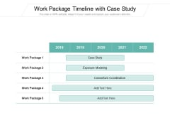Work Package Timeline With Case Study Ppt PowerPoint Presentation Gallery Structure PDF
