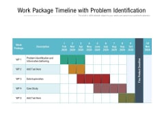 Work Package Timeline With Problem Identification Ppt PowerPoint Presentation Gallery Outline PDF