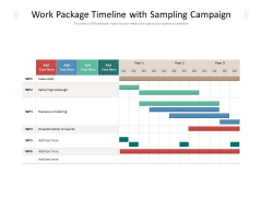 Work Package Timeline With Sampling Campaign Ppt PowerPoint Presentation Gallery Mockup PDF