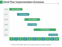 Work Plan Implementation Schedule Ppt PowerPoint Presentation Icon Inspiration