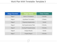 Work Plan With Timetable Template 3 Ppt PowerPoint Presentation Portfolio Design Ideas