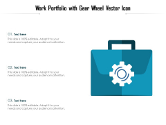 Work Portfolio With Gear Wheel Vector Icon Ppt PowerPoint Presentation File Deck PDF