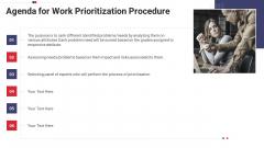 Work Prioritization Procedure Agenda For Work Prioritization Procedure Clipart PDF