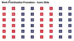 Work Prioritization Procedure Icons Slide Template PDF