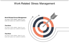 Work Related Stress Management Ppt PowerPoint Presentation Gallery Guidelines Cpb