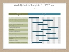 Work Schedule Template 111 Ppt Icon