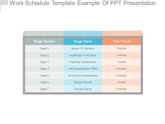 Work Schedule Template Example Of Ppt Presentation