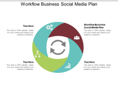 Workflow Business Social Media Plan Ppt PowerPoint Presentation Slides Vector Cpb