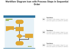 Workflow Diagram Icon With Process Steps In Sequential Order Ppt PowerPoint Presentation Gallery Master Slide PDF