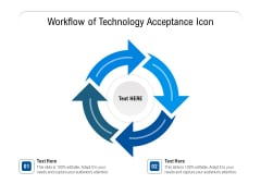 Workflow Of Technology Acceptance Icon Ppt PowerPoint Presentation Gallery Design Templates PDF