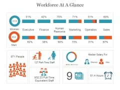 Workforce At A Glance Ppt PowerPoint Presentation Graphics
