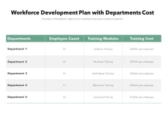 Workforce Development Plan With Departments Cost Ppt PowerPoint Presentation Icon Graphics Pictures