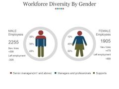 Workforce Diversity By Gender Ppt PowerPoint Presentation Styles Slides
