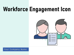 Workforce Engagement Icon Targets Measurement Ppt PowerPoint Presentation Complete Deck