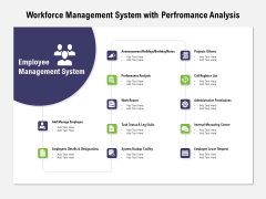 Workforce Management System With Performance Analysis Ppt PowerPoint Presentation Styles Format Ideas PDF
