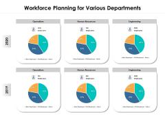 Workforce Planning For Various Departments Ppt PowerPoint Presentation Outline Design Inspiration PDF