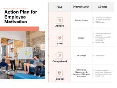 Workforce Planning System Action Plan For Employee Motivation Ppt PowerPoint Presentation Model Show PDF