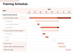Workforce Planning System Training Schedule Ppt PowerPoint Presentation Infographic Template Slides PDF