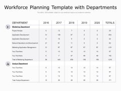 Workforce Planning Template With Departments Ppt PowerPoint Presentation Ideas Visuals
