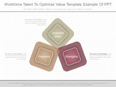 Workforce Talent To Optimize Value Template Example Of Ppt